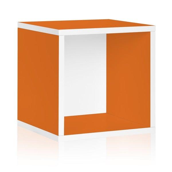 Way Basics Orange Stackable Large Storage Cube