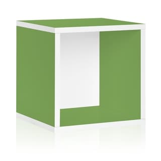 Way Basics Green Stackable Large Storage Cube
