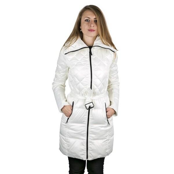 BCBG MAXAZRIA White Puffer Down Coat