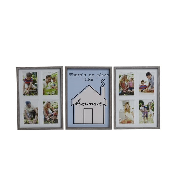 Melannco 3-piece Frame Set Theres No Place Like Home Wood Collages