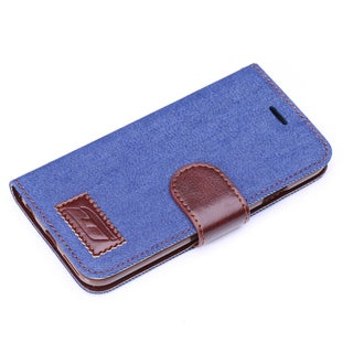 iPM Denim/ Leather Stylish iPhone 5/ 5S Wallet Case