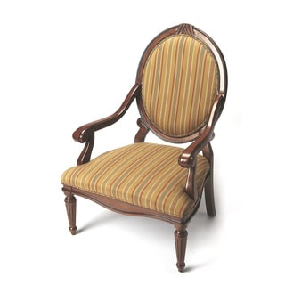 Butler Plantation Cherry Striped Accent Arm Chair