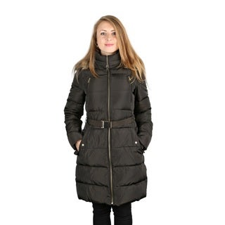 Michael Michael Kors Moss Green 3/4 Puffer Coat