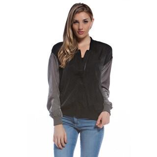 Fresh Colorblocked Contrast Sleeve Varsity Jacket