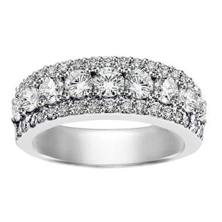 14k/ 18k White Gold 2ct TDW Round Diamond Wedding Band (G-H, SI1-SI2)