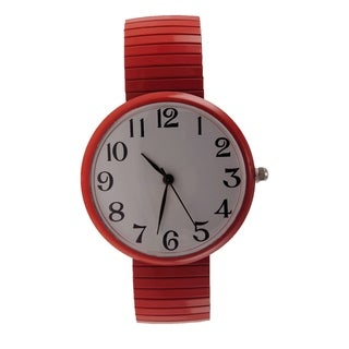 Women's Jumbo Stretch Band Watch White Easy-read Dial