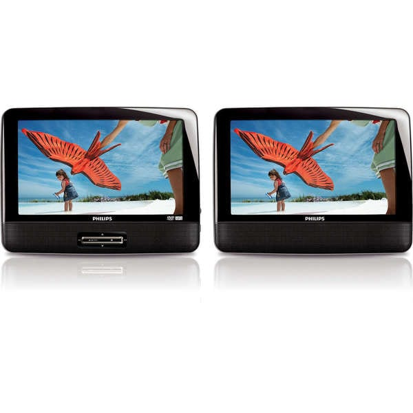 Philips PD9010.667 9-Inch LCD Dual Screen Portable DVD Player (Refurbished)