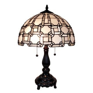 Amora Lighting AM109TL14 Tiffany Style Geometric Table Lamp
