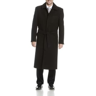 Blu Martini Men's Full-Length Wool Top Coat
