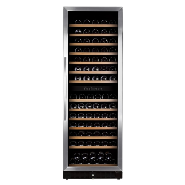 Royal Cave Elite BU-428D 164 bottle Dual Zone Compressor Stainless Wine Cooler Built In/Free Standing