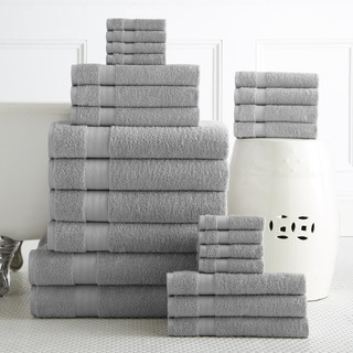 100-percent Plush Cotton 24-piece Economic Bath Towel Set