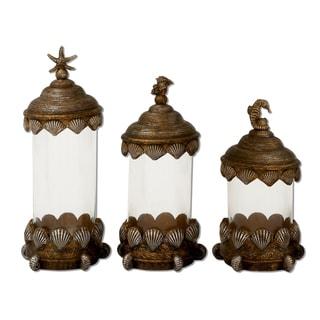 Coastal Living Decorative Glass Canister (Set of 3)
