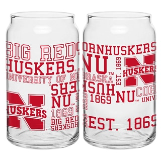Nebraska Cornhuskers 16-ounce Spirit Glass Set