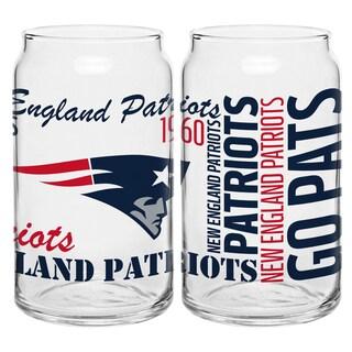 New England Patriots 16-Ounce Glass Spirit Glass Set