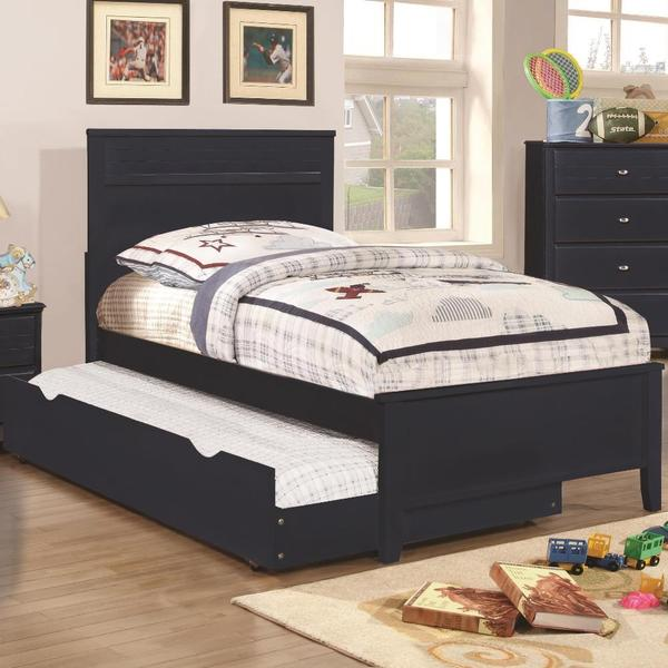 Leah Navy Blue 4-piece Bedroom Set