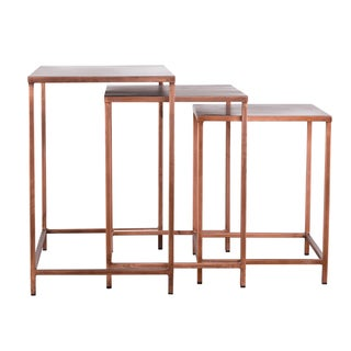 Set of 3 Perry Copper Nesting Tables (India)