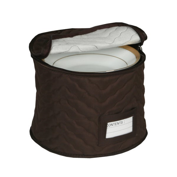 9 Chocolate Microfiber Chest For Soup Bowls