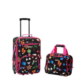 Rockland Beach 2-Piece Lightweight Carry-On Luggage Set