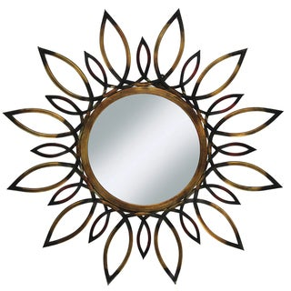 "Belview Openwork 34"" Round Metal Wall Mirror"