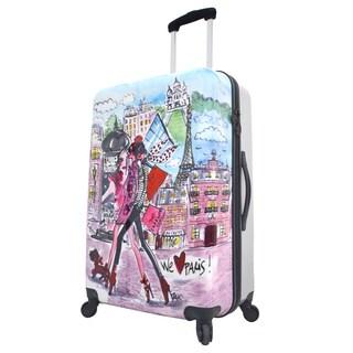 Mia Toro Italy Izak-Paris 27-inch Hardside Spinner Upright Suitcase