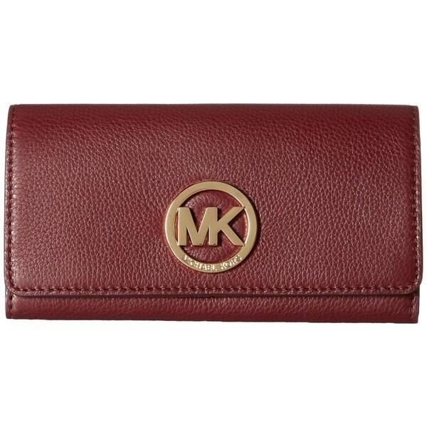 MICHAEL Michael Kors Fulton Carryall Wallet Merlot