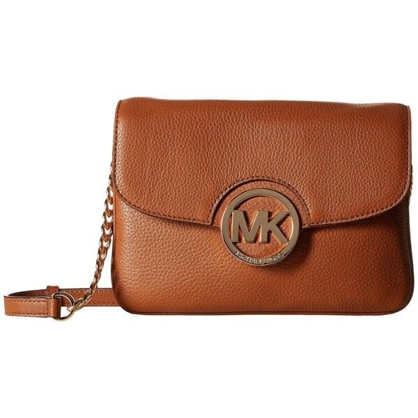 MICHAEL Michael Kors Fulton Leather Luggage Flap Gusset Crossbody