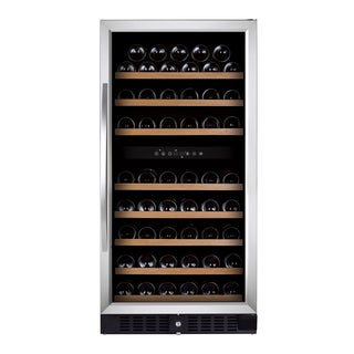 Royal Cave Elite BU-270D 87 bottle Dual Zone Compressor Stainless Wine Cooler Built In/Free Standing