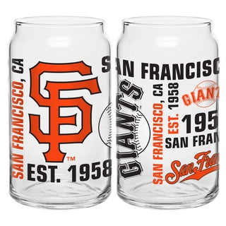 San Francisco Giants 16-Ounce Glass Spirit Glass Set