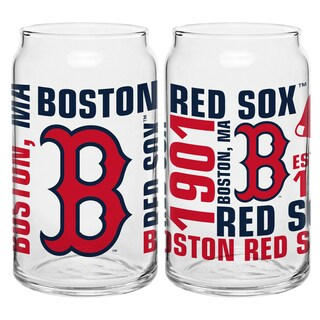 Boston Red Sox 16-Ounce Glass Spirit Glass Set