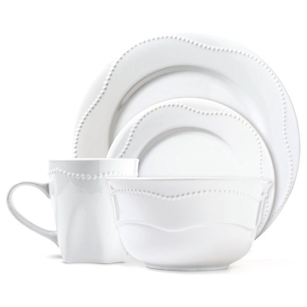 Dotrielle Blanc Premium Ceramic Stoneware Dinner Set