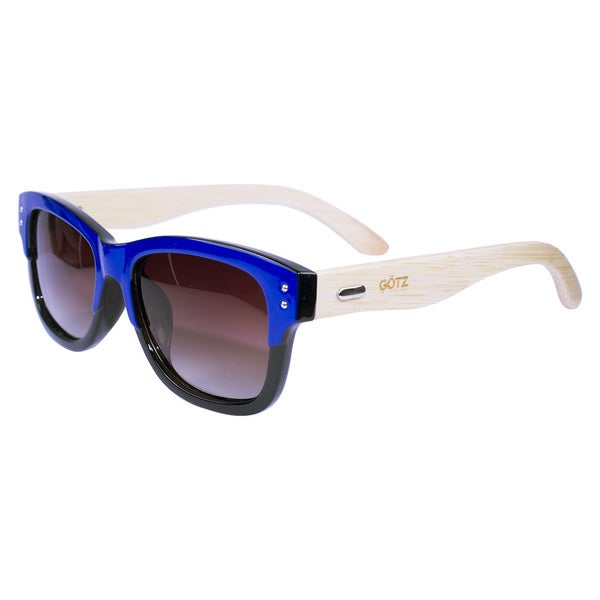 Bamboo Navy Blue Sunglasses