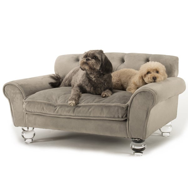 La Joie Tufted Velvet Pet Bed