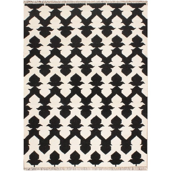 ABC Accents Moroccan Black Wool Rug (5' x 5')