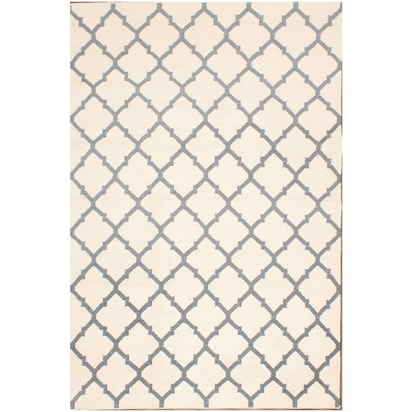 ABC Accents Moroccan Tan and Ivory Wool Rug (5' x 8')