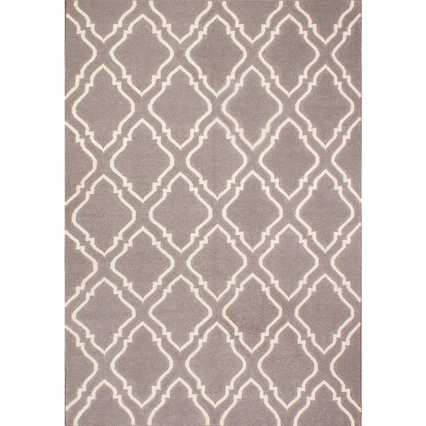 ABC Accents Moroccan Grey Wool Rug (5' x 8')