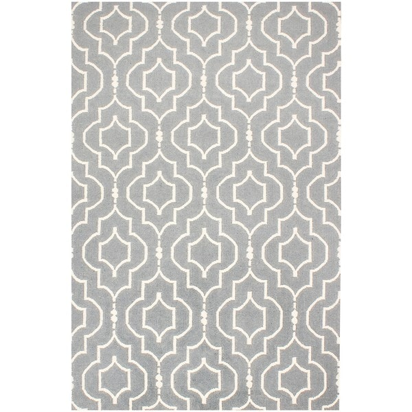 ABC Accents Moroccan Blue Wool Rug (5' x 8')