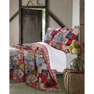 Greenland Home Fashions Rustic Lodge 3-piece Quilt Set