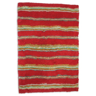 Waverly Honey Moon Stripe Tufted Bath Rug (20 x 30)