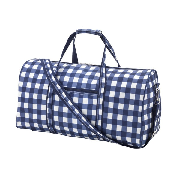 Owen Navy Plaid 21-inch Carry On Duffel Bag