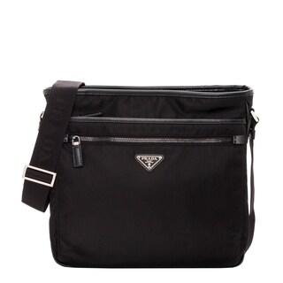 Prada Nylon Black Bandoleer Messenger Bag