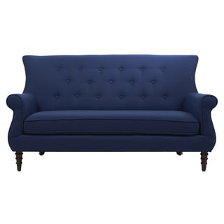 Jabob Navy Tufted Settee