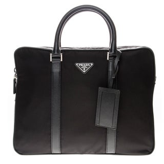 Prada Nylon Briefcase with Saffiano Leather Trim
