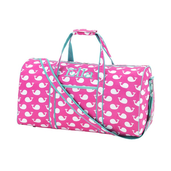 Pink Whale 21-inch Carry On Duffel Bag