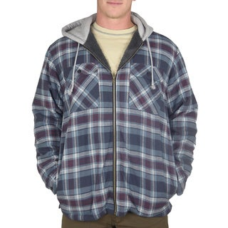 Stanley Men's Long-Sleeve Yarn Dyed Cotton Plaid Shirt Jacket