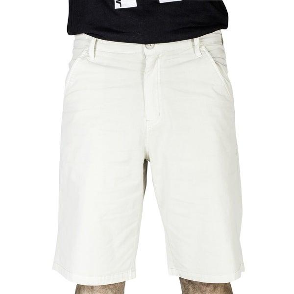 JNCO Men's Off-White Twill Shorts