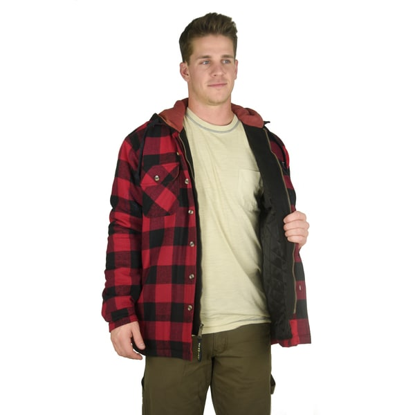 Stanley Men's Long-Sleeve Yarn-Dyed Cotton Plaid Shirt Jacket