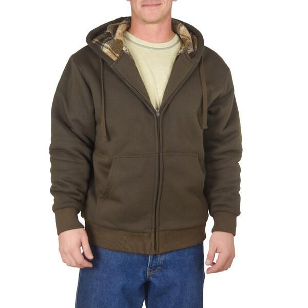 Stanley Men's Yarn Dye Plaid Sherpa Lined-Fleece Hoodie 16698609