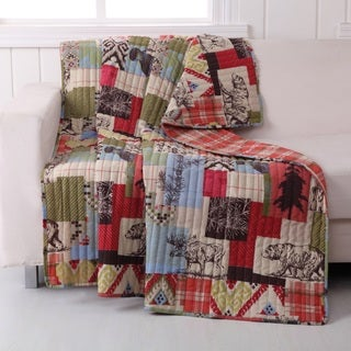 Rustic Lodge Quilted Throw