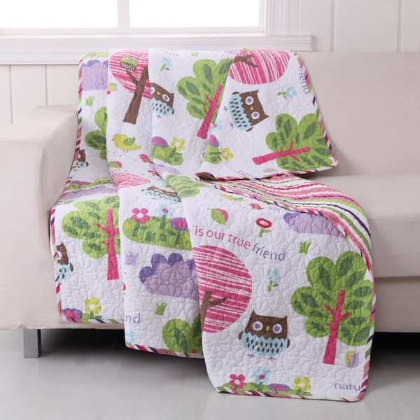 Woodland Girl Quilted Cotton Throw