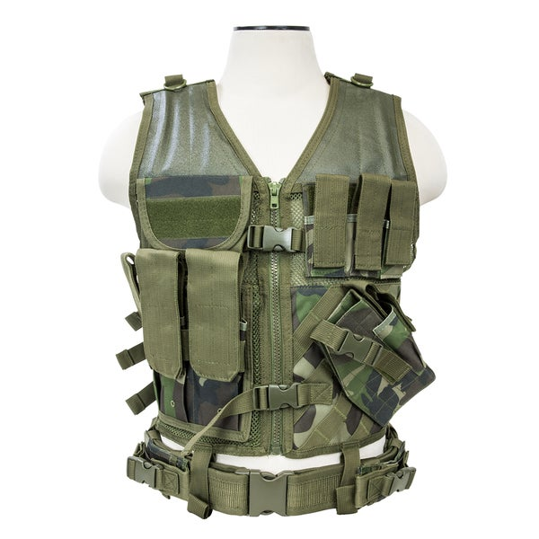 NcStar Tactical Vest Woodland Camo, M-XL